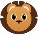 animal, face icon, lion, wild, zoo icon
