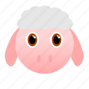 animal, face icon, farm, sheep, wool icon
