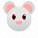 animal, face icon, gray, litle, mouse, pet, rat icon