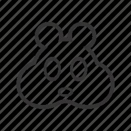 animal, contour, domestic, face, hamster, head, pet icon