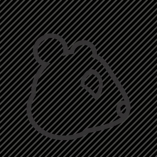 animal, contour, domestic, hamster, head, pet icon