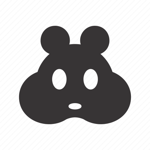 animal, domestic, face, fill, hamster, head, pet icon