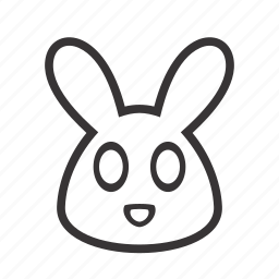 animal, contour, face, hare, head, pet, rabbit icon