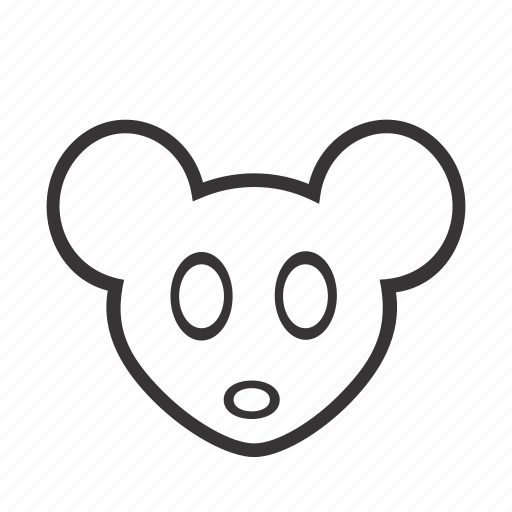 animal, contour, face, head, mouse, pet icon