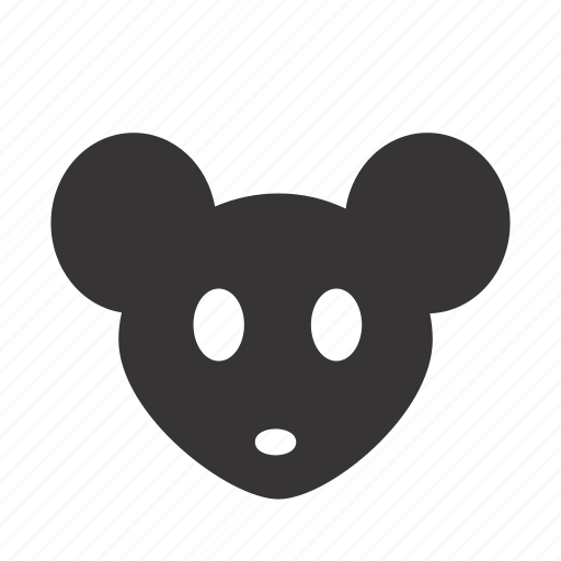 animal, face, fill, head, mouse, pet icon