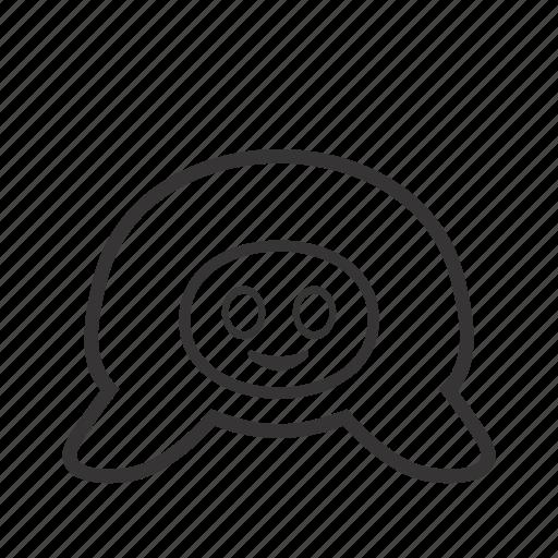animal, contour, pet, turtle icon