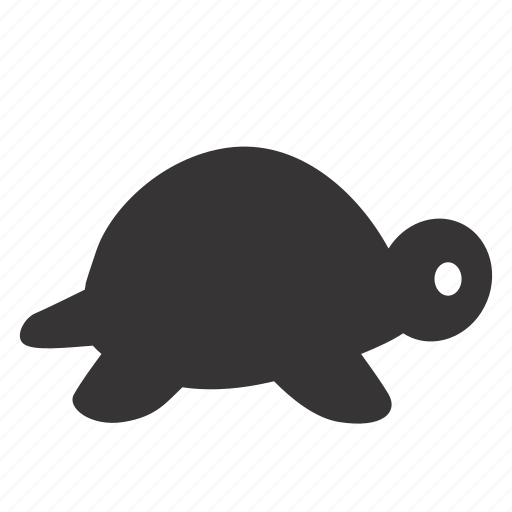 animal, fill, pet, silouette, turtle icon