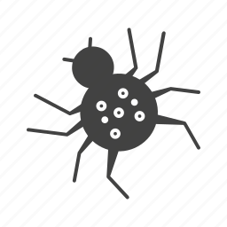 danger, halloween, insect, poison, spider, toxic icon