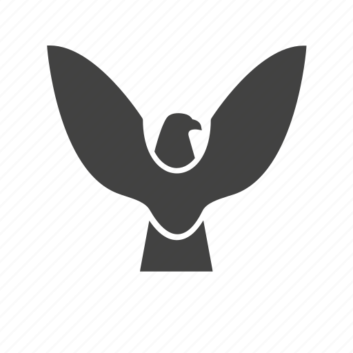bird, eagle, falcon, flying, sky, wing icon