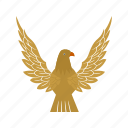 bird, eagle, falcon, flight, sky, wing icon