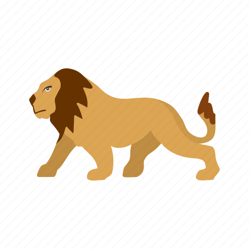 big cat, fast, jungle, king, leopard, lion icon