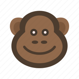 animal, animals, ape, chimpanzee, monkey, wild, wildlife icon