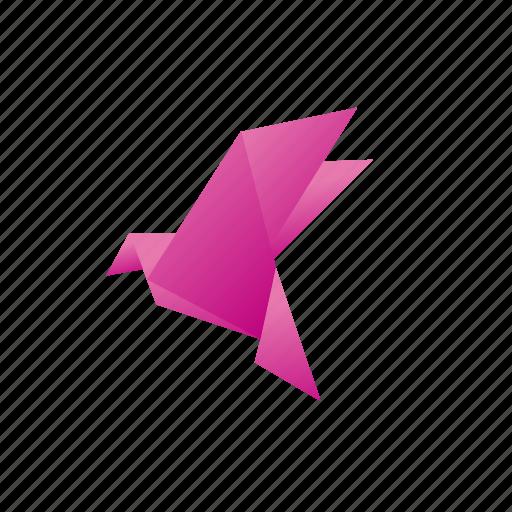 Animals Classic Origami Paper Pigeon Icon