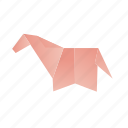 animals, classic, domestic, horse, origami, paper icon