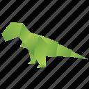 animals, classic, dinosaur, origami, paper, t-rex icon