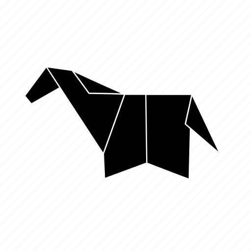Animals Domestic Horse Origami Icon