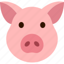 face, head, hog, pig, piggy, piglet, swine icon