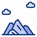 adventure, cloud, hiking, ice, mountain icon
