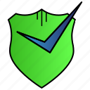 activate, activated, protection, safety, secure icon