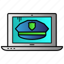 anti, cyber, cybercrime, police, security icon