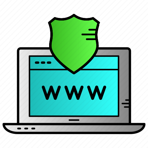 browser, internet, security, shield, surf, web icon