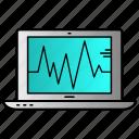 computer, desktop, status, technology icon