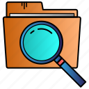 document, files, find, folder, scan icon