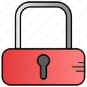 denied, key, lock, padlock icon