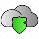 cloud, internet, network, protection, storage icon