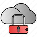 cloud, data, internet, network, security icon