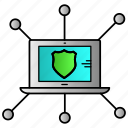 connection, network, secure, security, social icon