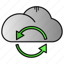 arrow, cloud, download, sync, upload icon