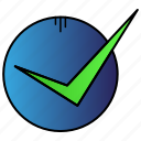 approved, checked, ok, secure icon