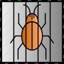 bug, isolation, malware, spyware, virus icon
