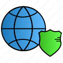 cyber, global, hacker, internet, security icon