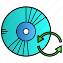 disk, refresh, reload, software, update icon
