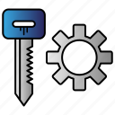 gear, key, manager, password icon