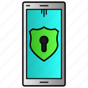 phone, protection, security, technology icon