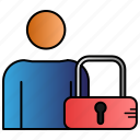 control, lock, parental, user icon