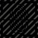fingerprint, id, identification, profile, scan, scanner icon