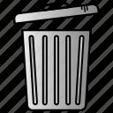 deleted, file, remove, trash icon