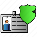namecard, protection, secure, user icon