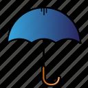 potect, rain, safety, umbrella icon