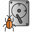 infected, infection, storage, viruse icon