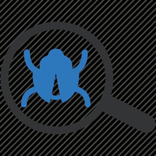 bug, bug search, bug tracking, find bug icon