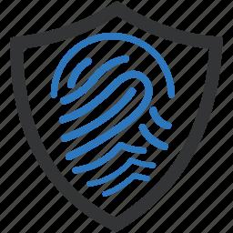 biometric, fingerprint, identification, identity, security icon