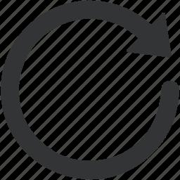 backup, circle, sync icon icon