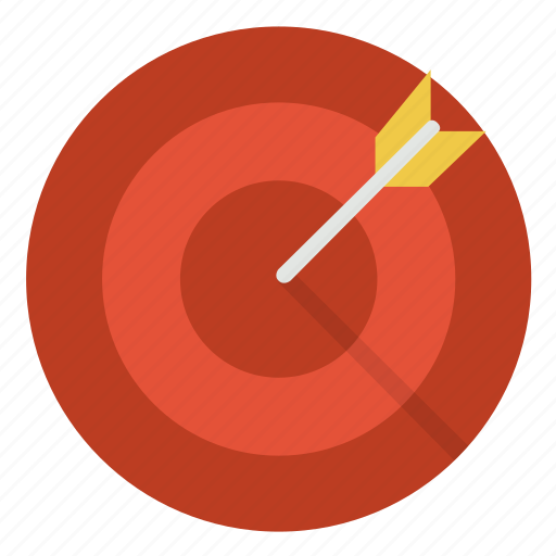 aim, arrow, direction, goal, spot, success, target icon