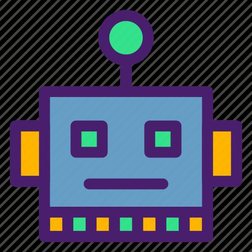 emoji, emoticon, machine, robot, smiley icon