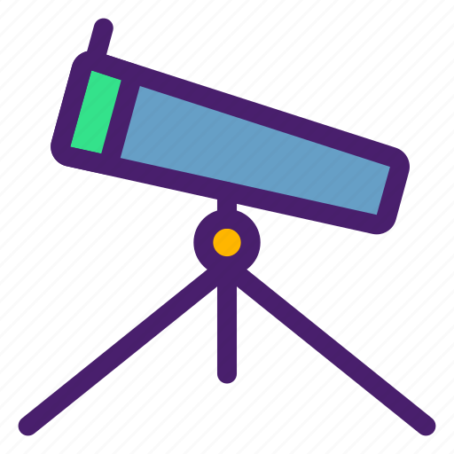 astronomy, galaxy, sight, space, telescope, tools, universe icon